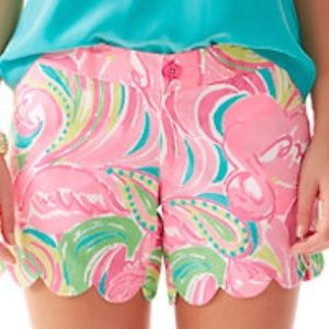Lilly Pulitzer all nighter Buttercup shorts